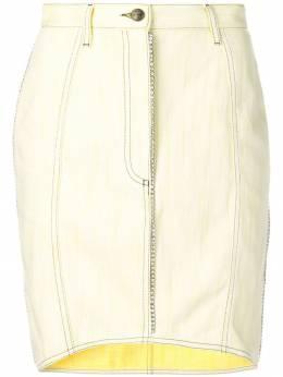 Marco De Vincenzo - джинсовая юбка с кристаллами 039A3JVF6QF993838890