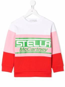 Stella McCartney Kids - толстовка с контрастным логотипом 053SMJ86933333630000