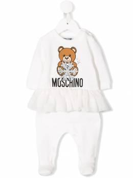 Moschino Kids - комбинезон для новорожденного Teddy Bear 66XLDA95959335300000