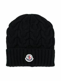 Moncler Kids - шапка вязки с косами 966565S6090050336000