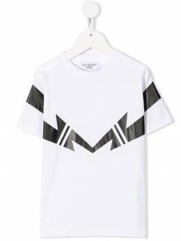 Neil Barrett Kids - футболка с логотипом 65669860993890953000