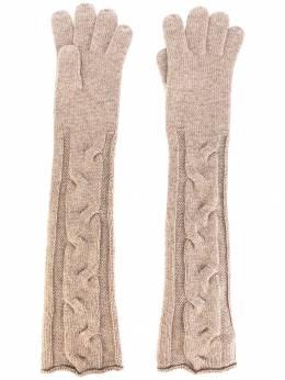 Loro Piana - длинные трикотажные перчатки 3698D695909035350000