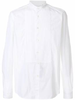 Dell'oglio - pleated bib shirt U0F6HIUC9569BIANCO93