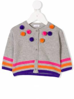 Il Gufo - pom-pom knitted cardigan GF086EM0069309565000