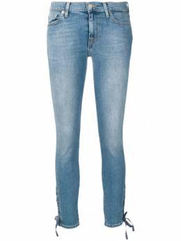 7 For All Mankind - джинсы скинни с эффектом 'варенки' UR98CFB9365506800000