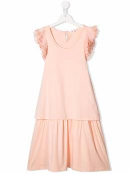Chloé Kids - расклешенное платье с короткими рукавами 39653A93685656000000