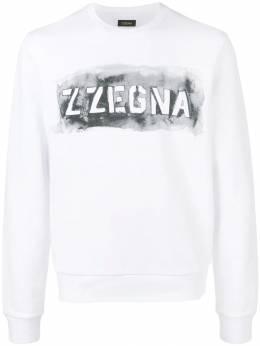 Z Zegna - толстовка с логотипом и принтом 58ZZ856A935866360000