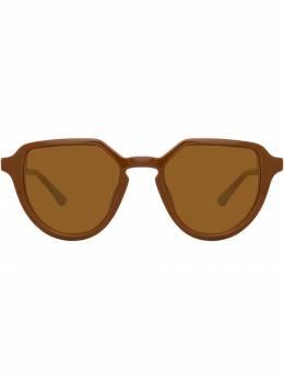 Linda Farrow - солнцезащитные очки в овальной оправе 985C5SUN938850360000