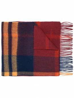 Mulberry - клетчатый шарф с бахромой 399663L6659395633800
