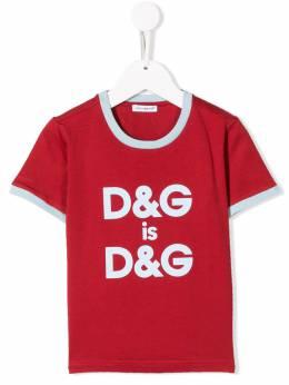 Dolce & Gabbana Kids - футболка D&G is D&G TCRG3RID939533890000