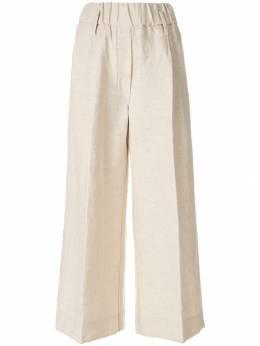Forte Forte - расклешенные брюки с вышивкой 6MYPANTS905355690000