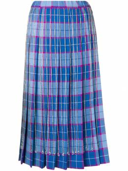 Marco De Vincenzo - checked pleated skirt 099A5IBF959O90990693