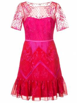 Marchesa Notte - кружевное короткое платье C6365935965580000000