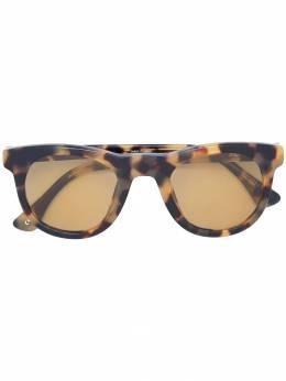 Linda Farrow - солнцезащитные очки в квадратной оправе с черепаховым эффектом 933C96SUN90393306000
