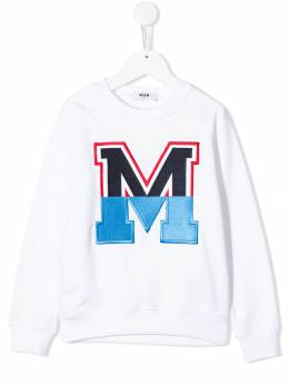 Msgm Kids - толстовка с нашивкой 'М' 693FELPA669935833850