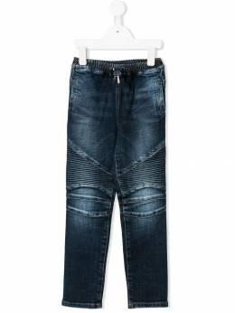 """Balmain Kids - джинсы со стегаными панелями и эффектом """"варенки"""" 5666T935935965960000"""