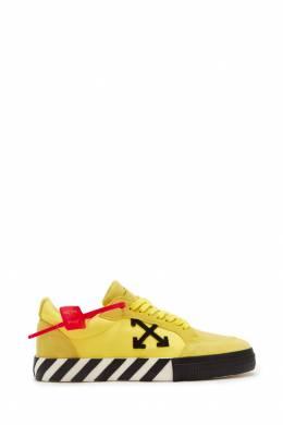 Кеды желтого цвета в полоску Off-White 2202144026