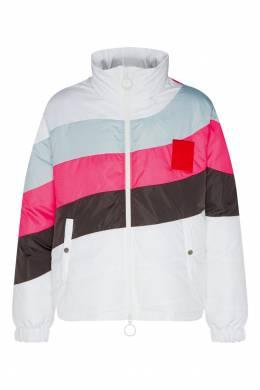 Пуховик с разноцветными полосками Off-White 2202144047