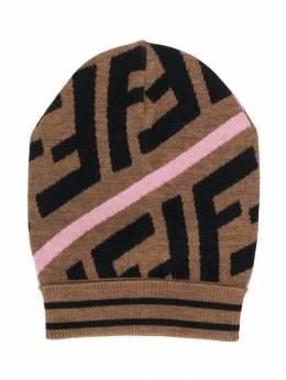 Fendi Kids - шапка бини с узором Zucca 690A0M59535363300000