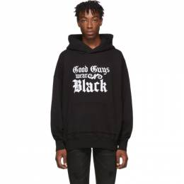 Amiri Black and White Good Guys Hoodie 192886M20201703GB
