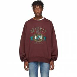Amiri Burgundy Beverly Hills Sweatshirt 192886M20401403GB