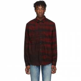Amiri Red Bleached Flannel Shirt 192886M19201703GB