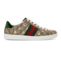 Gucci Beige GG Supreme Ace Bee Sneakers 550051 9N020