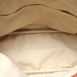 Hermes Orange Canvas Bored Pouch Bag 213521