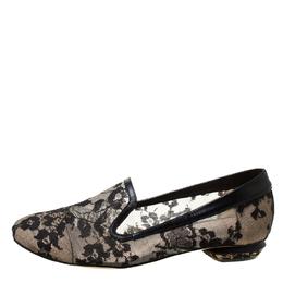 Nicholas Kirkwood Black Lace Casati Ballet Flats Size 36 213643
