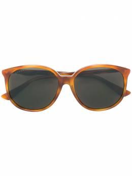 Gucci Eyewear - круглые солнцезащитные очки с эффектом черепашьего панциря 069SA903968000000000