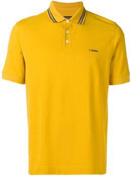 Z Zegna - contrast logo polo shirt 36ZZ6669368635900000