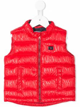 Emporio Armani Kids - logo print quilted vest B695NGHZ939908660000