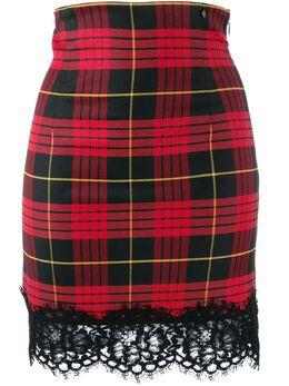 Twin-Set - жаккардовая юбка с узором тартан TP060595069953000000