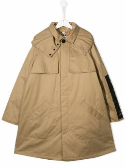 Burberry Kids logo printed rain coat 8011821