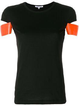 Helmut Lang - футболка с контрастными рукавами HW595903539850000000