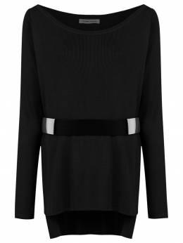 Gloria Coelho belted knit blouse I18N017A
