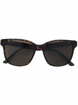 Gucci Eyewear - прямоугольные солнцезащитные очки 593SK933355680000000