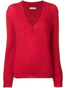 Nina Ricci - трикотажный свитер с V-образной горловиной MPU665ML6398U0683933