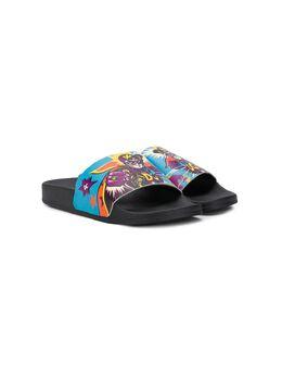 Dolce & Gabbana Kids - шлепанцы с принтом Super Hero 398A3303959588590000