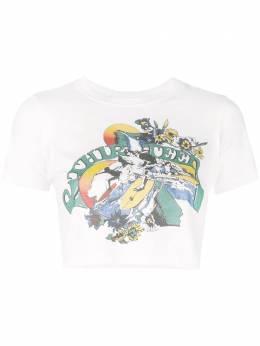 R13 - укороченная футболка с графичным принтом W3963659380559500000