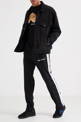 Черные спортивные брюки с логотипом Palm Angels 1864144190