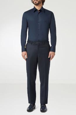Синяя рубашка с логотипом Billionaire 1668144659