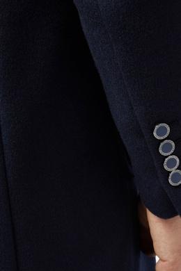Прямое тесно-синее пальто Billionaire 1668144671