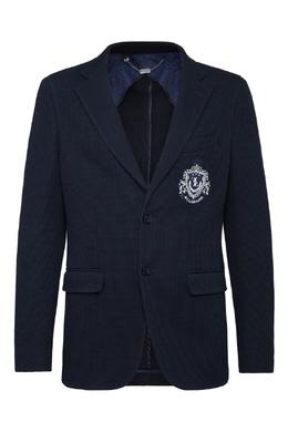 Синий пиджак с вышивкой Billionaire 1668144674