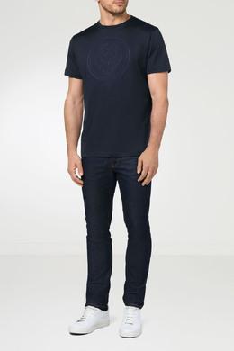 Темно-синяя футболка с рисунком Billionaire 1668144654