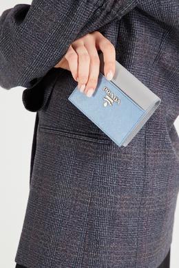 Двухцветный кожаный кошелек Prada 40144562