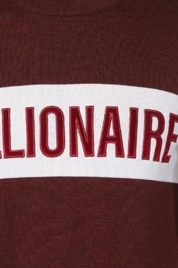 Красный свитер с надписью Billionaire 1668144711