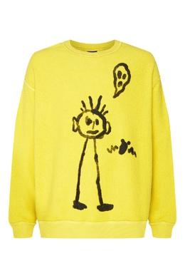 Желтый джемпер с рисунком Marcelo Burlon County Of Milan 29144641