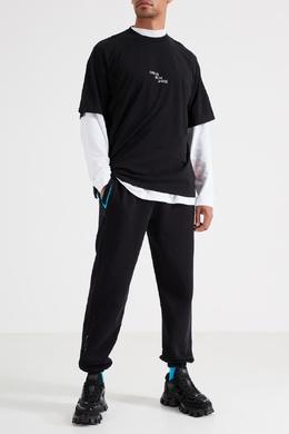 Черная хлопковая футболка Marcelo Burlon County Of Milan 29144643