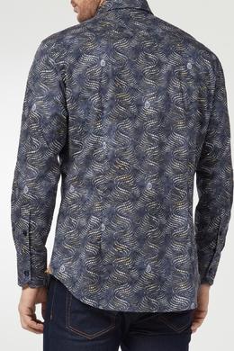 Синяя рубашка с абстрактным рисунком Billionaire 1668144661